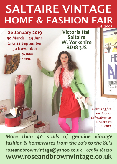 click here toview our Saltaire Vintage Fair Ticket £2  section
