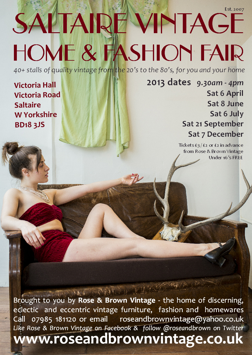 click here to view our Saltaire Vintage Fair Ticket �2 section